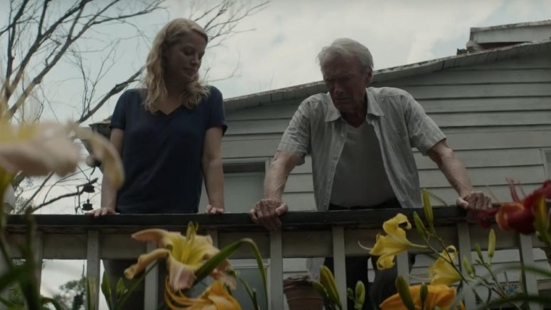 The Mule, Clint Eastwood and Alison Eastwood as Earl and Iris.